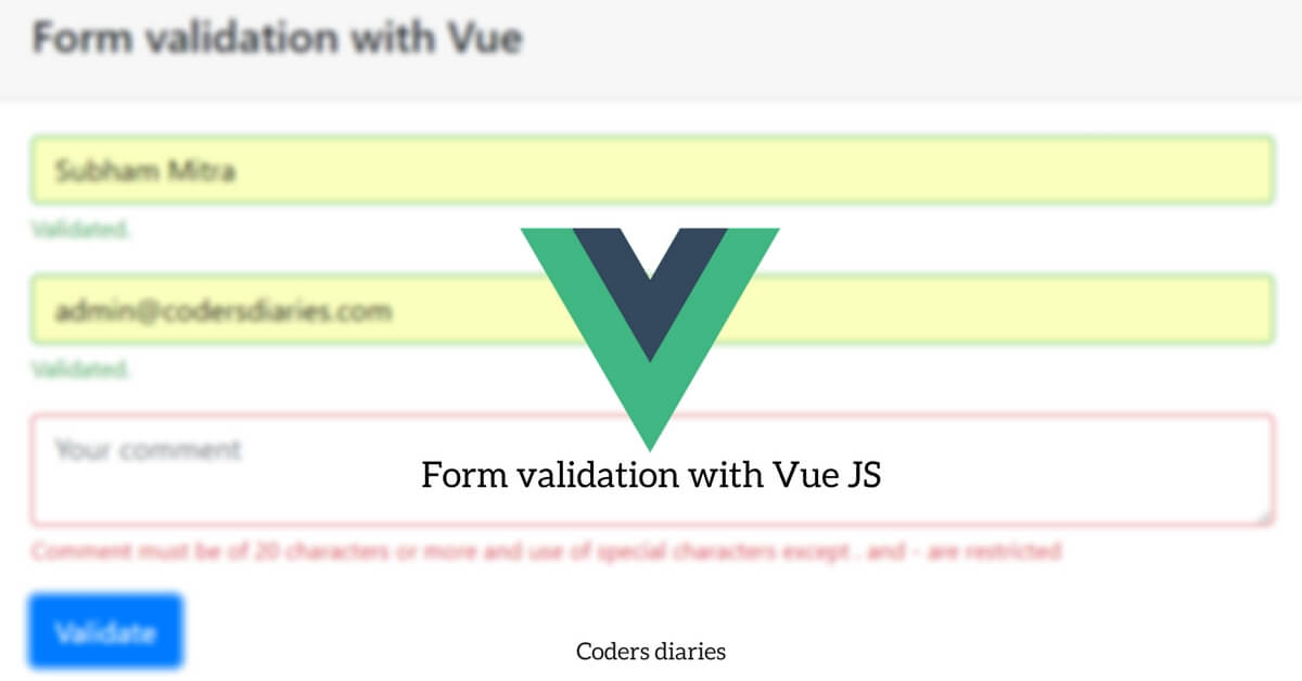 Vue JS form validation with bootstrap